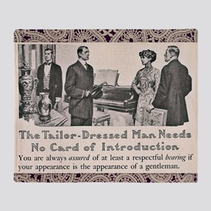 Tailor-Dressed Man Lace Background Throw Blanket