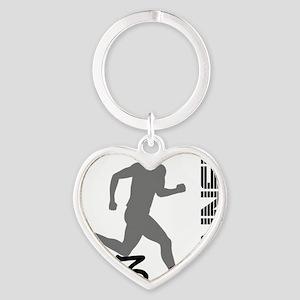 131runner10in Heart Keychain