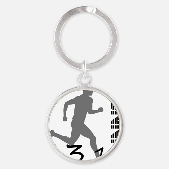 131runner10in Round Keychain