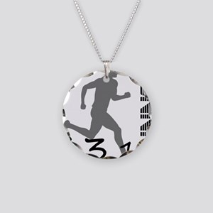 131runner10in Necklace Circle Charm