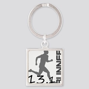 131runner10in Square Keychain