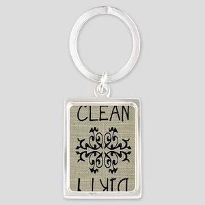 sack cloth magnet Portrait Keychain