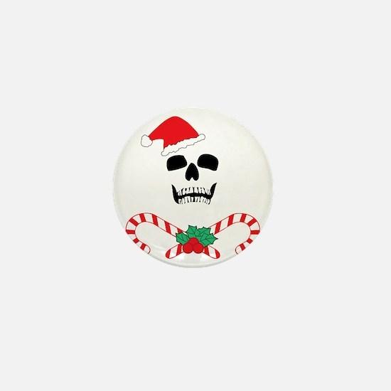 skullchristmas Mini Button