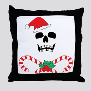 skullchristmas Throw Pillow