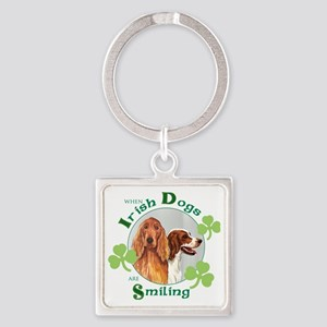 St Pat 2 setters tote-no hat Square Keychain
