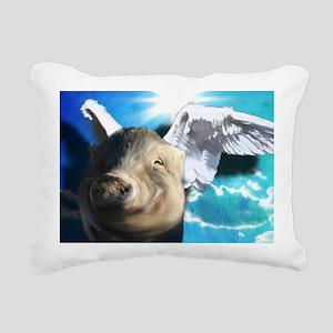 Angel_Pig-TriPodDogDesig Rectangular Canvas Pillow