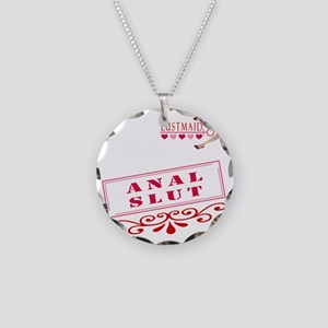 ANAL--SLUT Necklace Circle Charm