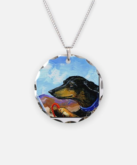 Dauntless Dachshund Drives t Necklace