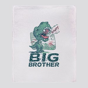 Big Brother T Rex Throw Blanket