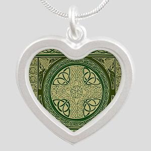 Celtic Blanket Silver Heart Necklace
