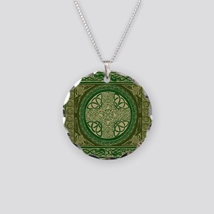 Celtic Blanket Necklace Circle Charm