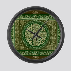 Celtic Blanket Large Wall Clock