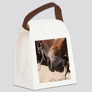 2 Horse Noses Canvas Lunch Bag
