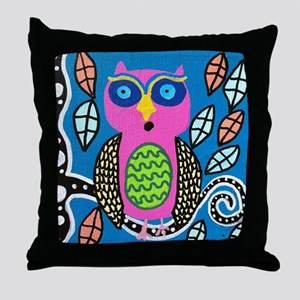 Single Owl Throw Pillow