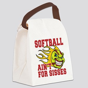 softball sisses(blk) Canvas Lunch Bag