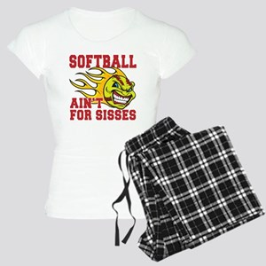 softball sisses(blk) Women's Light Pajamas