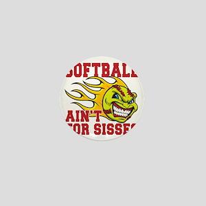 softball sisses(blk) Mini Button