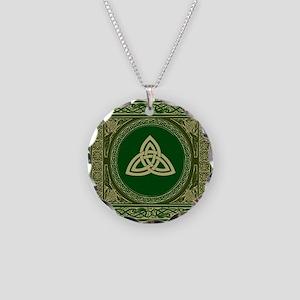 Celtic Blanket Necklace Circle Charm