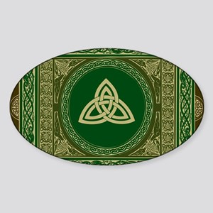 Celtic Blanket Sticker (Oval)