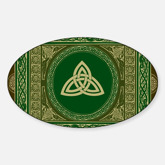 Celtic Blanket Sticker (Oval)