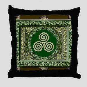 Celtic Blanket Throw Pillow