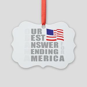obamabestanswer Picture Ornament