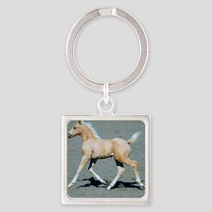 Palomino Foal Square Keychain