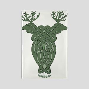 Celtic Stag Rectangle Magnet