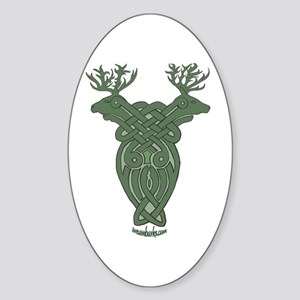 Celtic Stag Oval Sticker