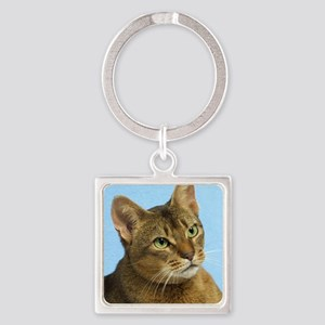 Abyssinian Cat 9Y009D-036 Square Keychain