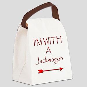 IM with a jackwagon Canvas Lunch Bag