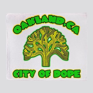 Oakland City Of Dope -- T-Shirt Throw Blanket