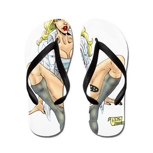 0a3c42c8f3bbcc Blonde Flip Flops - CafePress