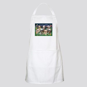 7 Shih Tzus in Moonlight BBQ Apron
