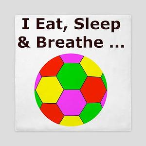 Eat Sleep Breathe Soccer Themed T-Shir Queen Duvet
