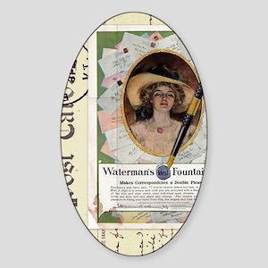 1909 Watermans Ideal Fountain Pen A Sticker (Oval)