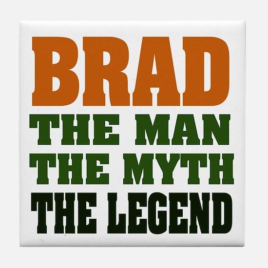 BRAD - the legend Tile Coaster