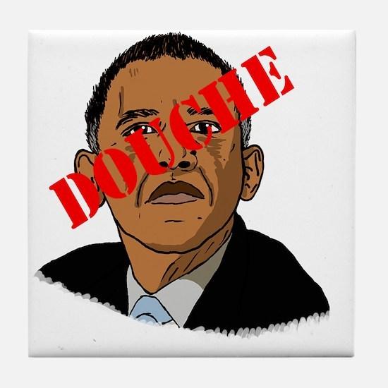 Obama Douche Tile Coaster