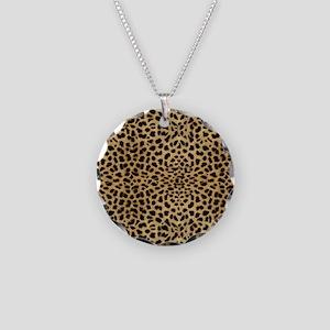 blanketleopardprint Necklace Circle Charm