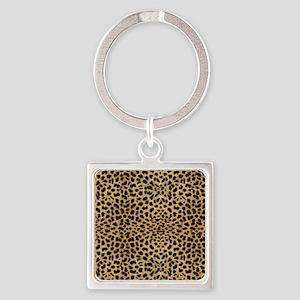 blanketleopardprint Square Keychain