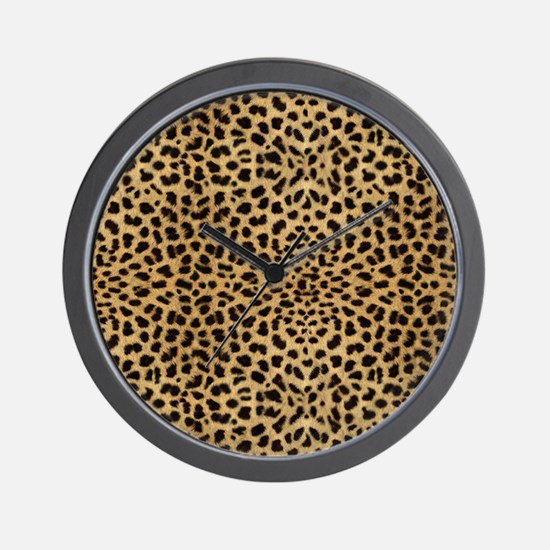 blanketleopardprint Wall Clock