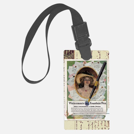 1909 Watermans Ideal Fountain Pe Luggage Tag