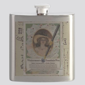 1909 Watermans Ideal Fountain Pen Ad Flask