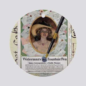 1909 Watermans Ideal Fountain Pen A Round Ornament