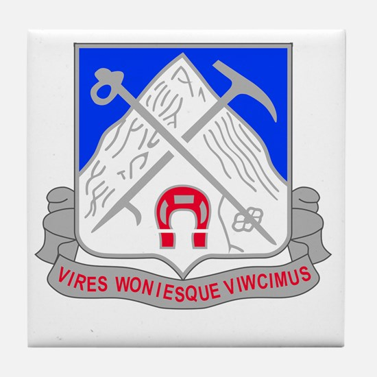 1-87 Infantry Unit Crest Tile Coaster