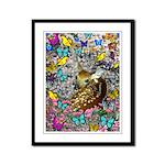 Bambina Fawn Butterflies Framed Panel Print