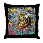 Bambina Fawn Butterflies Throw Pillow