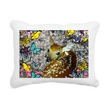 Bambina Fawn Butterflies Rectangular Canvas Pillow