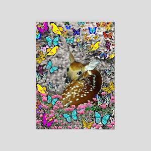 Bambina Fawn Butterflies 5'x7'Area Rug