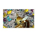 Bambina Fawn Butterflies 20x12 Wall Decal